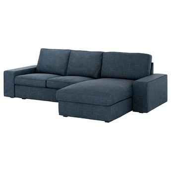 IKEA KIVIK Sofa 3-osobowa, z szezlongiem/Hillared granatowy, Maksymalna szerokość: 280 cm