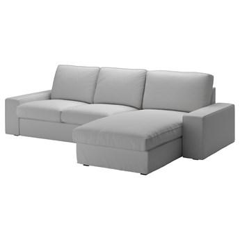 IKEA KIVIK Sofa 3-osobowa, z szezlongiem/Orrsta jasnoszary, Maksymalna szerokość: 280 cm