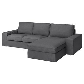 IKEA KIVIK Sofa 3-osobowa, z szezlongiem/Skiftebo ciemnoszary, Maksymalna szerokość: 280 cm