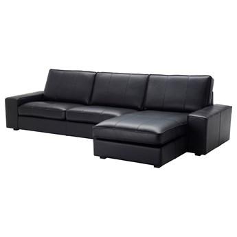 IKEA KIVIK Sofa 4-osobowa, z szezlongiem/Grann/Bomstad czarny, Szerokość: 318 cm