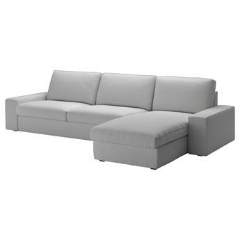 IKEA KIVIK Sofa 4-osobowa, z szezlongiem/Orrsta jasnoszary, Maksymalna szerokość: 318 cm