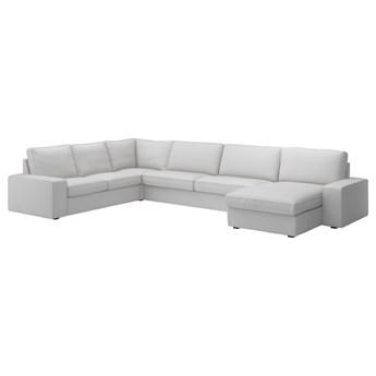 IKEA KIVIK Sofa narożna, 6-osobowa, z szezlongiem/Orrsta jasnoszary, Głębokość szezlonga: 163 cm