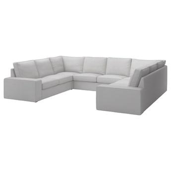 IKEA KIVIK Sofa w kształcie litery U, 6-osob, Orrsta jasnoszary, Szerokość: 328 cm