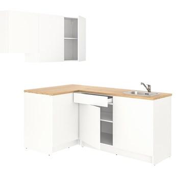 IKEA KNOXHULT Kuchnia narożna, biały, 182x183x220 cm