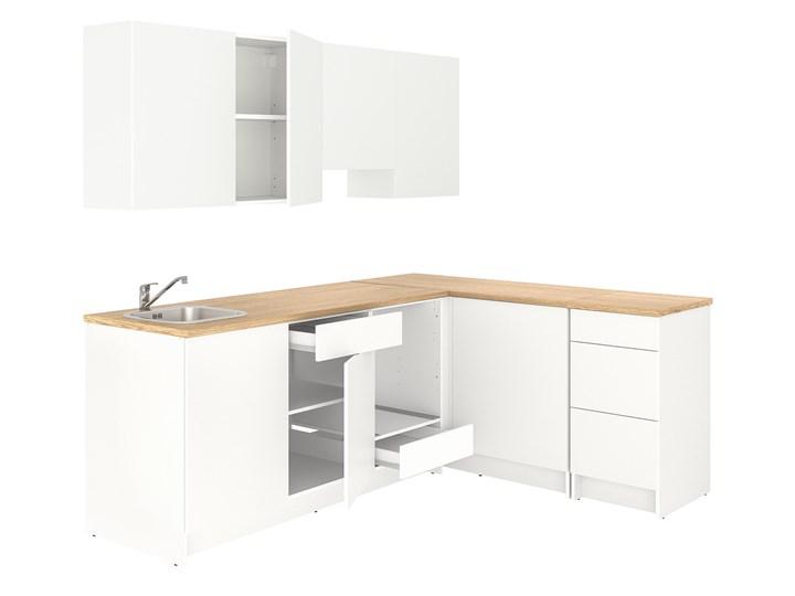 IKEA KNOXHULT Kuchnia narożna, biały, 243x164x220 cm