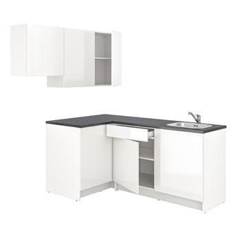 IKEA KNOXHULT Kuchnia narożna, połysk/biały, 182x183x220 cm