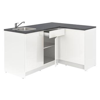 IKEA KNOXHULT Kuchnia narożna, połysk/biały, 183x122x91 cm