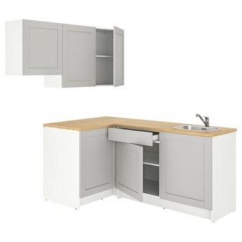 IKEA KNOXHULT Kuchnia narożna, szary, 182x183x220 cm