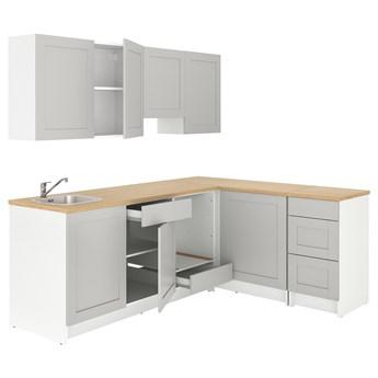 IKEA KNOXHULT Kuchnia narożna, szary, 243x164x220 cm
