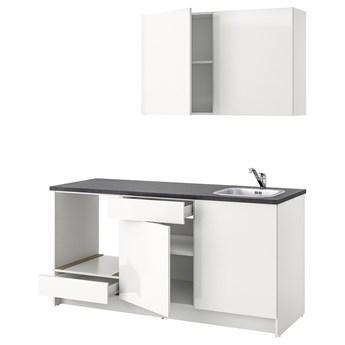 IKEA KNOXHULT Kuchnia, połysk biały, 180x61x220 cm