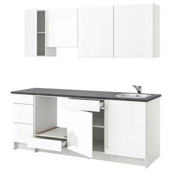 IKEA KNOXHULT Kuchnia, połysk biały, 220x61x220 cm