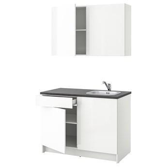 IKEA KNOXHULT Kuchnia, połysk biały, 120x61x220 cm