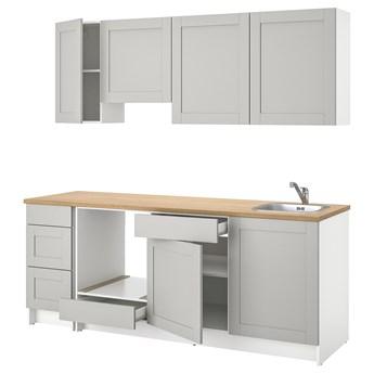 IKEA KNOXHULT Kuchnia, szary, 220x61x220 cm