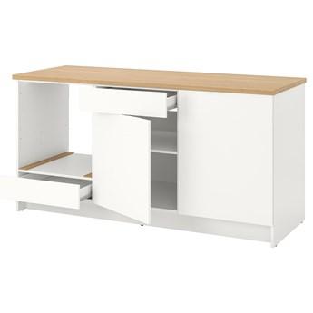 IKEA KNOXHULT Szafka stojąca, drzwi+szuflada, biały, 180 cm