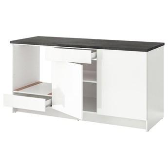 IKEA KNOXHULT Szafka stojąca, drzwi+szuflada, połysk biały, 180 cm