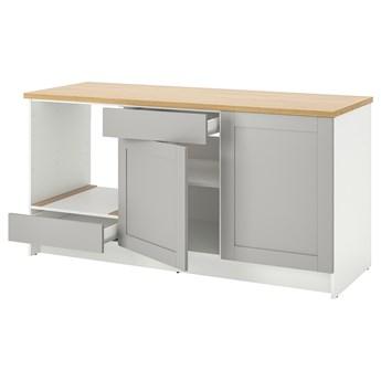IKEA KNOXHULT Szafka stojąca, drzwi+szuflada, szary, 180 cm
