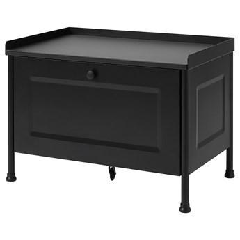 IKEA KORNSJÖ Ławka ze schowkiem, czarny, Szerokość: 70 cm