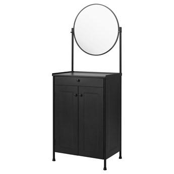 IKEA KORNSJÖ Szafka z lustrem, czarny, 70x47 cm