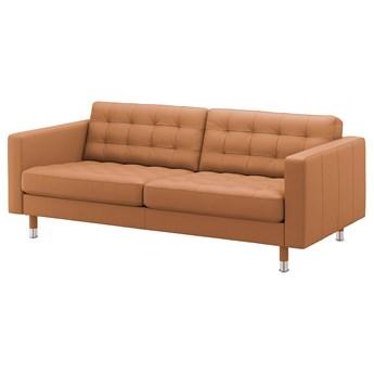 IKEA LANDSKRONA Sofa 3-osobowa, Grann/Bomstad złoto-brązowy/metal, Szerokość: 204 cm