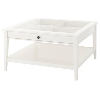 IKEA LIATORP Stolik kawowy, biały/szkło, 93x93 cm