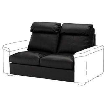 IKEA LIDHULT Sekcja 2-os sofa rozkładana, Grann/Bomstad czarny, Wysokość z poduchami oparcia: 95 cm