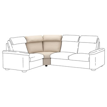 IKEA LIDHULT Sekcja narożna, Gassebol jasnobeżowy