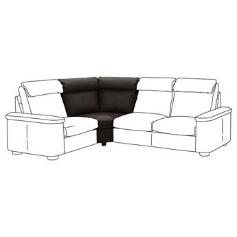 IKEA LIDHULT Sekcja narożna, Grann/Bomstad ciemnobrązowy, Wysokość z poduchami oparcia: 95 cm