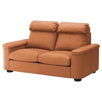 IKEA LIDHULT Sofa 2-osobowa rozkładana, Grann/Bomstad złoto-brązowy, Wysokość z poduchami oparcia: 102 cm