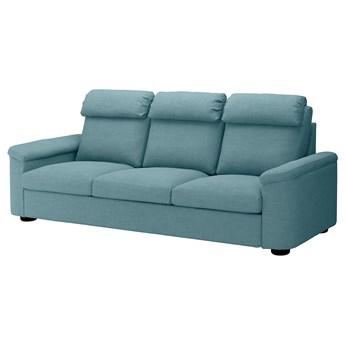 IKEA LIDHULT Sofa 3-osobowa, Gassebol niebieski/szary, Wysokość z poduchami oparcia: 102 cm
