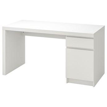 IKEA MALM Biurko, Biały, 140x65 cm