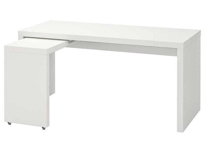 IKEA MALM Biurko z wysuwanym panelem, Biały, 151x65 cm Płyta MDF Szerokość 151 cm Biurko narożne Kategoria Biurka