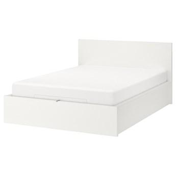 IKEA MALM Łóżko z pojemnikiem, Biały, 160x200 cm
