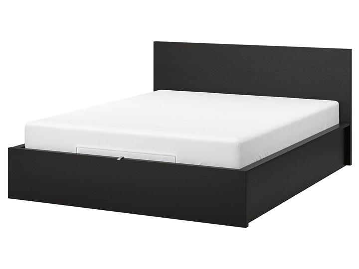 IKEA MALM Łóżko z pojemnikiem, Czarnybrąz, 140x200 cm
