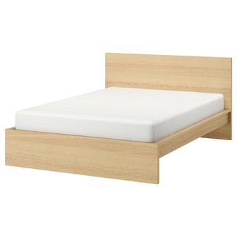 IKEA MALM Rama łóżka, wysoka, Okleina dębowa bejcowana na biało, 140x200 cm