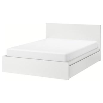 IKEA MALM Rama łóżka z 2 pojemnikami, Biały, 140x200 cm