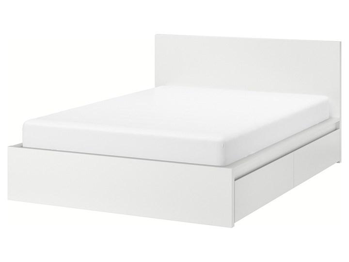 IKEA MALM Rama łóżka z 2 pojemnikami, Biały, 160x200 cm Łóżko drewniane Kategoria Łóżka do sypialni