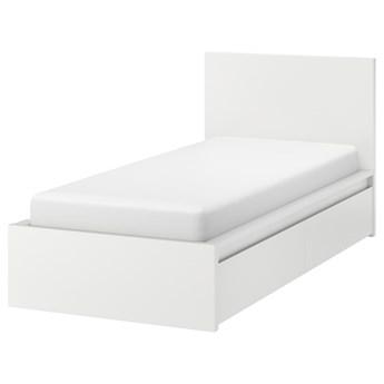 IKEA MALM Rama łóżka z 2 pojemnikami, Biały, 90x200 cm
