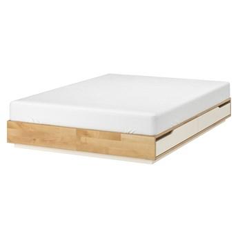 MANDAL Rama łóżka z szufladami