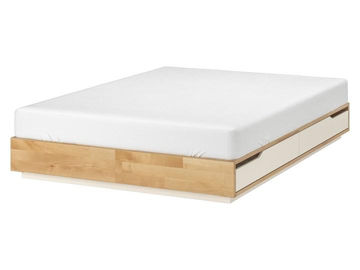 MANDAL Rama łóżka z szufladami Łóżko drewniane Kolor Beżowy Kategoria Łóżka do sypialni