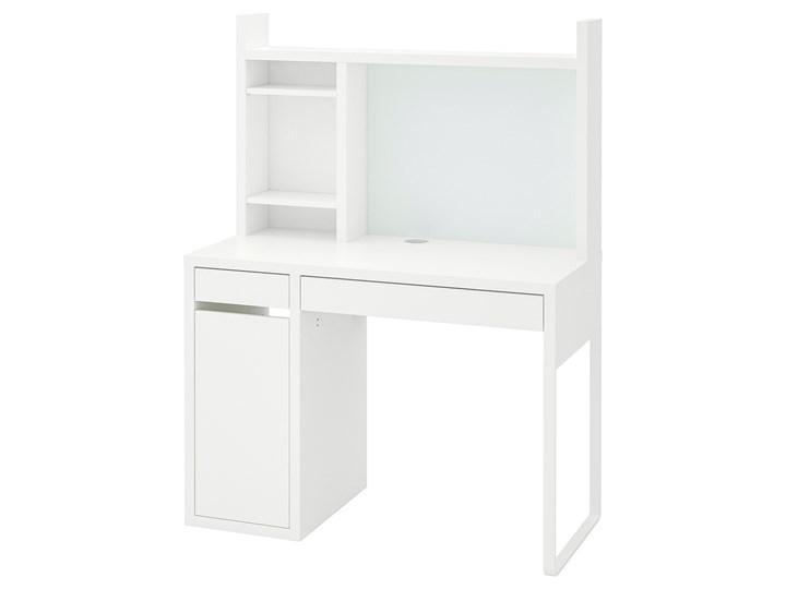 IKEA MICKE Biurko, Biały, 105x50 cm Szerokość 105 cm Biurko regulowane Płyta MDF Pomieszczenie Biuro Kategoria Biurka