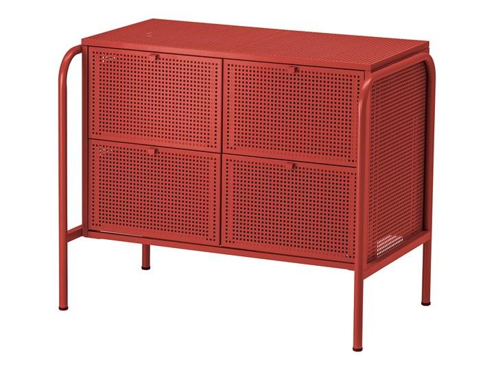 IKEA NIKKEBY Komoda, 4 szuflady, czerwony, 84x70 cm