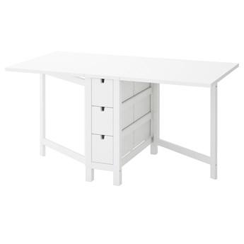 IKEA NORDEN Stół z opuszczanym blatem, Biały, 26/89/152x80 cm