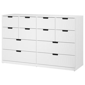 IKEA NORDLI Komoda,12 szuflad, Biały, 160x99 cm