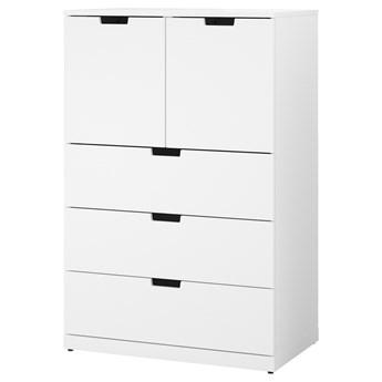 IKEA NORDLI Komoda, 5 szuflad, Biały, 80x122 cm