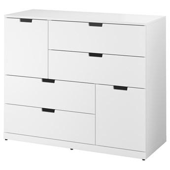 IKEA NORDLI Komoda, 6 szuflad, Biały, 120x99 cm