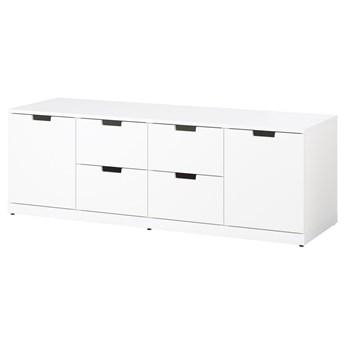 IKEA NORDLI Komoda, 6 szuflad, Biały, 160x54 cm