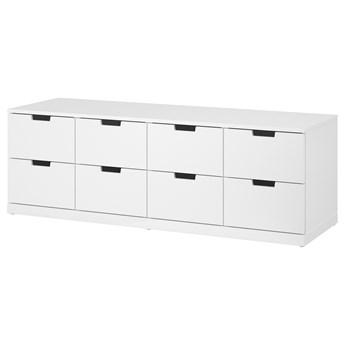 IKEA NORDLI Komoda, 8 szuflad, Biały, 160x54 cm