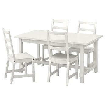 IKEA NORDVIKEN / NORDVIKEN Stół i 4 krzesła, biały/biały, 152/223x95 cm