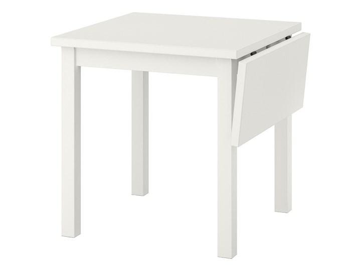IKEA NORDVIKEN Stół z opuszcz blatem, Biały, 74/104x74 cm Sosna Wysokość 75 cm Drewno Długość 104 cm Kształt blatu Prostokątny
