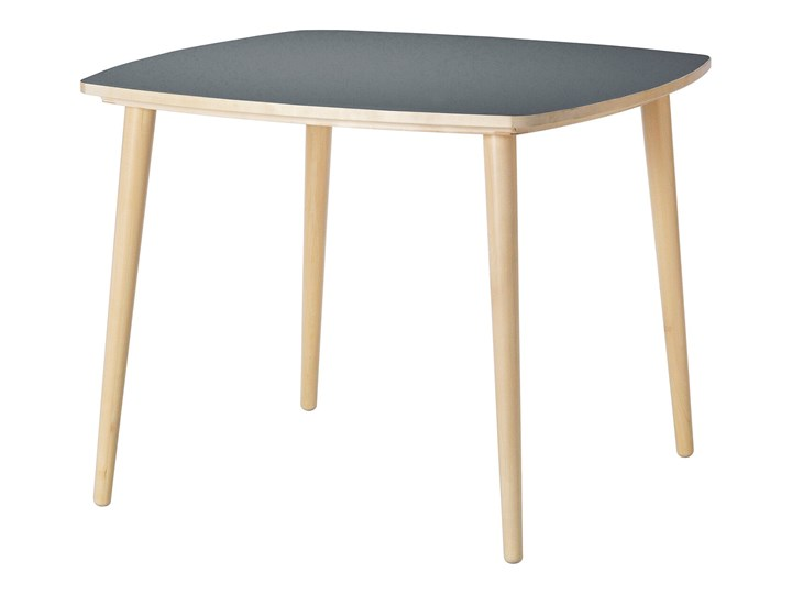 IKEA OMTÄNKSAM Stół, Antracyt/brzoza, 95x95 cm